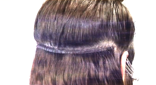 Hair extension wefted